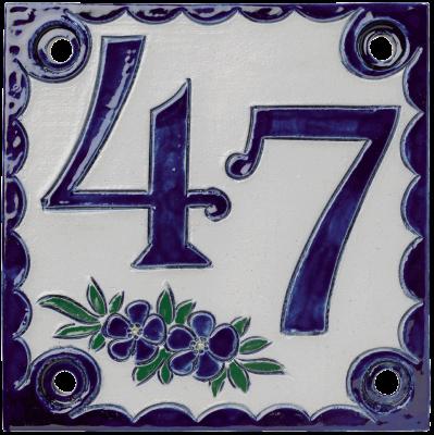 Numéro de maison carré